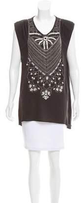 Sass & Bide Embellished Sleeveless Top