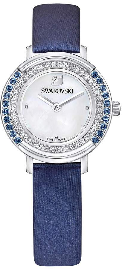 Playful Mini Watch, Fabric strap, Blue, Silver tone