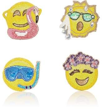 Kim Seybert Summer Emoji Coaster Set