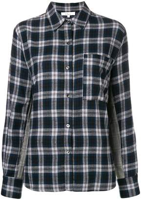 Clu contrast panel check shirt