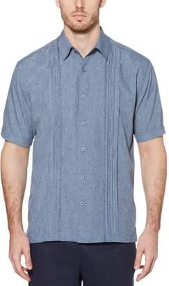 Cubavera Embroidered Panel Chambray Shirt