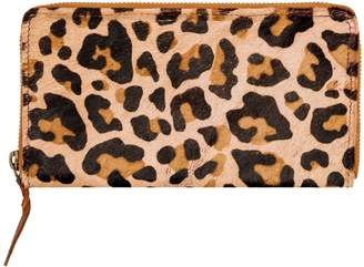 MAHI Leather - Classic Ladies Purse In Leopard Print Pony Hair Leather