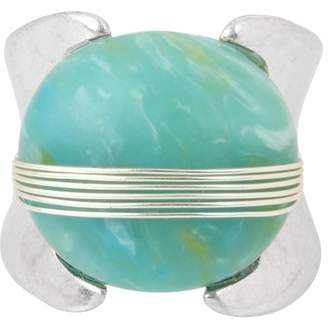 Robert Lee Morris Wire Wrapped Green Stone Ring - Size 8.5