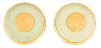 Hermes Clou de Selle Leather Earrings