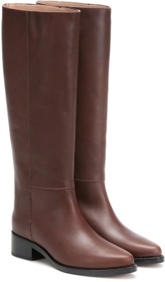 Legres Knee-high leather riding boots