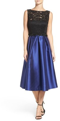 Women's Ellen Tracy Lace Bodice Midi Dress $188 thestylecure.com