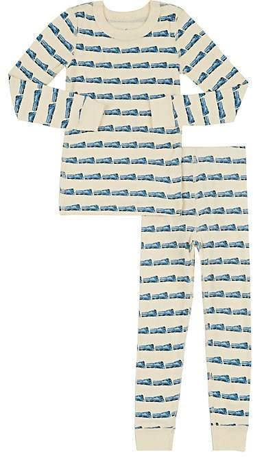 Skylar Luna Train-Print Cotton Long-Sleeve Top & Pants