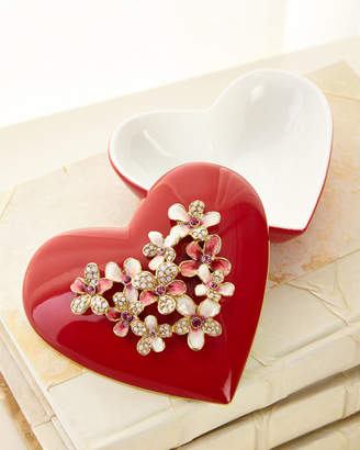 Jay Strongwater Bouquet Heart Box
