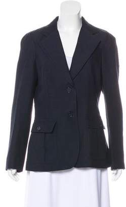 DKNY Wool & Linen Notch-Lapel Blazer