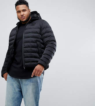 SikSilk puffer jacket with hood in black exclusive to ASOS