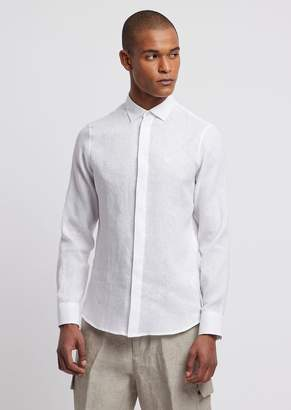 Emporio Armani Shirt In Pure Linen