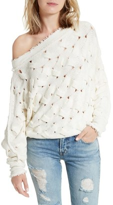 Women's Free People Desert Sands Cable Pullover $126 thestylecure.com