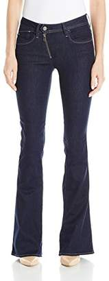 G Star Women's Lynn Zip High Rise Flare Leg Jean in Loxton Superstretch