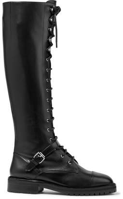 Tabitha Simmons Alfri Lace-up Leather Knee Boots - Black