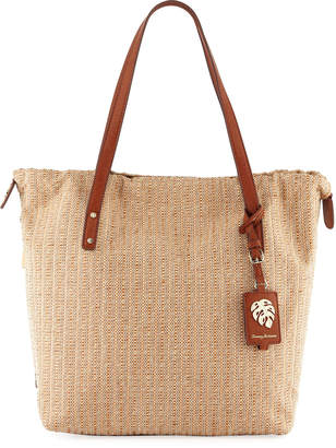 Tommy Bahama Crete Canvas Tote Bucket Bag
