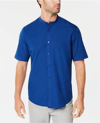Alfani Men's Stripe Band-Collar Shirt