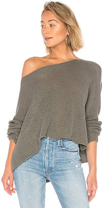 BCBGMAXAZRIA Long Sleeve Asymmetrical Knit Sweater