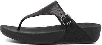 FitFlop The skinny Black Sandals Womens Shoes Casual Heeled Sandals