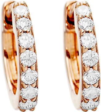 Astley Clarke Mini Halo 14ct rose-gold hoop earrings