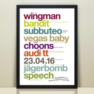 Wordplay Design Personalised 'My Perfect Best Man' Print