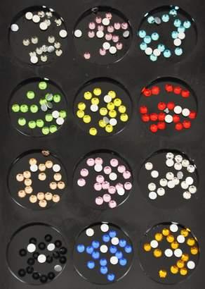 Factory Beauties Nail Art Crystal SS8 Foiled Flatback Rhinestone 12 Colour