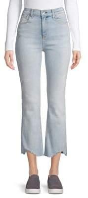 Rag & Bone Frayed-Trimmed Cropped Jeans