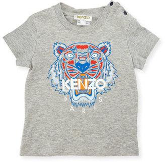 Kenzo Slub Jersey Logo Tee, Gray, Size 6-18 Months $53 thestylecure.com