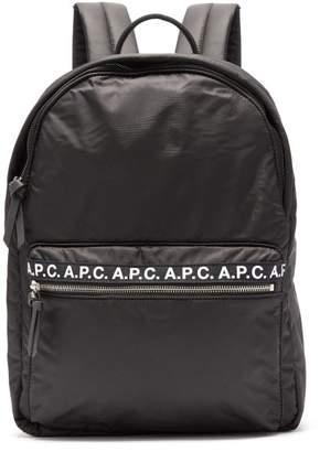 A.P.C. (アー ペー セー) - A.P.C. A.p.c. - Marc Logo Print Backpack - Mens - Black