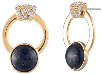 "Trina Turk Oversized Pave 1-1/2"" Hoop Earrings"