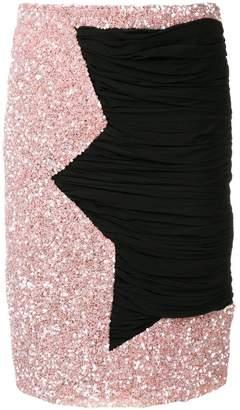 Moschino contrast panel skirt