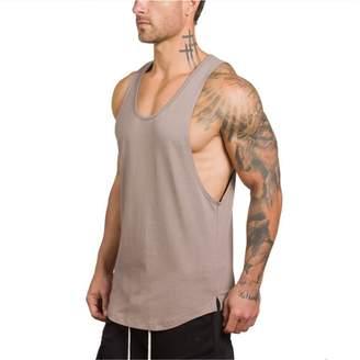 251fc910e9442d ALAPUSA Men s Sleeveless Gym Bodybuilding Workout Stringer Tank Top