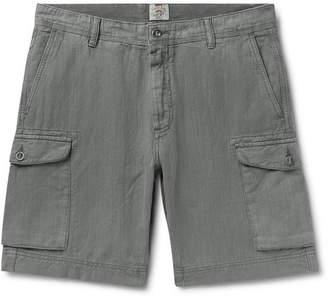 e6fd1e1f7c Faherty Wide-Leg Linen And Cotton-Blend Cargo Shorts