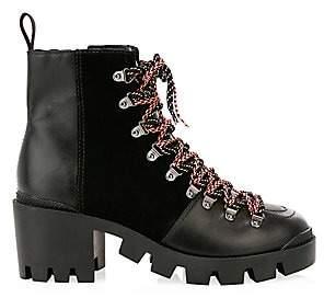 Schutz Women's Doralice Leather & Suede Combat Boots
