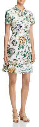 Tory Burch Port Cotton Floral-Print Shirt Dress
