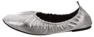 Celine Metallic Round-Toe Flats