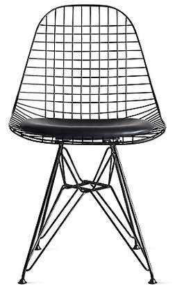 Design Within Reach Herman Miller Eames Wire Chair with Seat Pad (DKR.5), Black at DWR