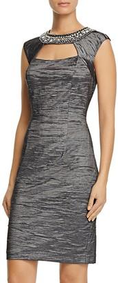 Eliza J Embellished Taffeta Sheath Dress $158 thestylecure.com