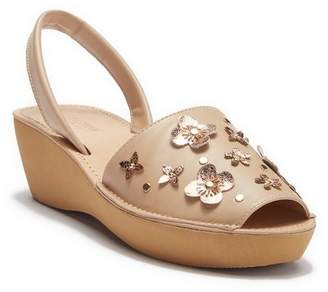 Kenneth Cole Reaction Fine Glass Floral Wedge Sandal