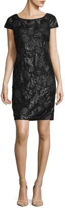 Calvin Klein Sequin Cap Sleeve Dress
