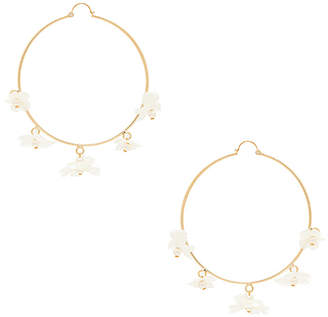 Anton Heunis White Flower Hoops