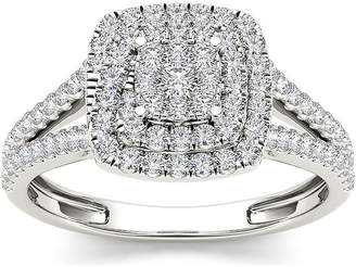 MODERN BRIDE 1/2 CT. T.W. Diamond 10K White Gold Engagement Ring