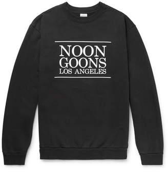 Noon Goons Logo-Printed Fleece-Back Cotton-Jersey Sweatshirt