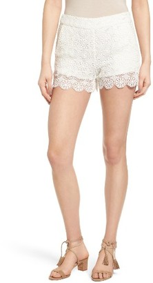 Women's Ella Moss Medallion Crochet Shorts $148 thestylecure.com