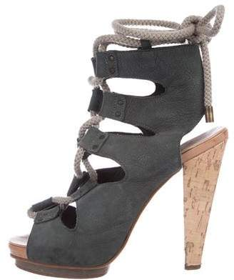Derek Lam Suede Lace-Up Sandals