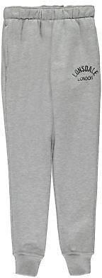 Lonsdale London Kids Girls Slim Closed Hem Pants Junior Fleece Jogging Bottoms Trousers