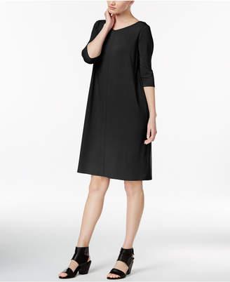 Eileen Fisher Jersey V-Neck Shift Dress, Regular & Petite $178 thestylecure.com