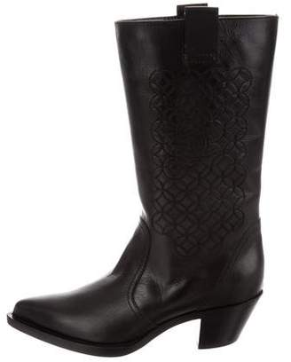 Chanel CC Western Mid-Calf Boots