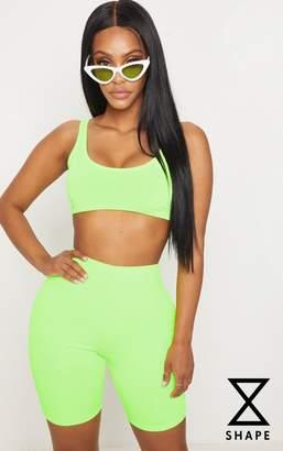 PrettyLittleThing Shape Emerald Green Slinky Cycling Shorts
