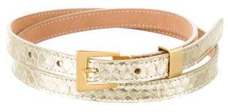 Michael Kors Metallic Python Waist Belt
