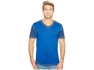 Agave Denim Darren Short Sleeve Color Block V-Neck Tee Men's T Shirt